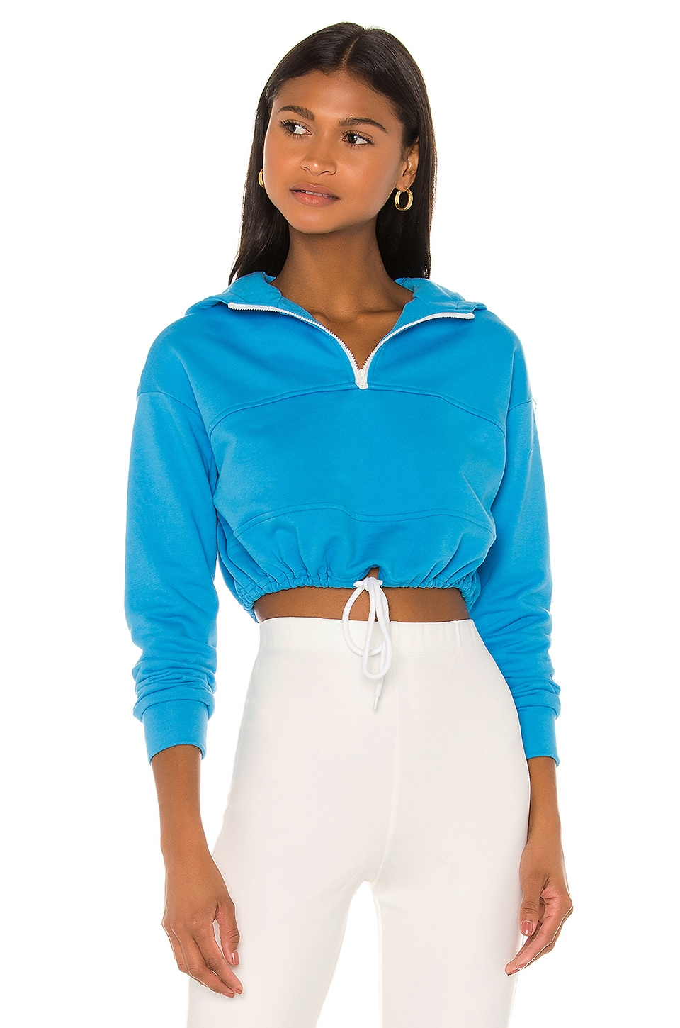 superdown Kaisa Cropped Pullover in Blue