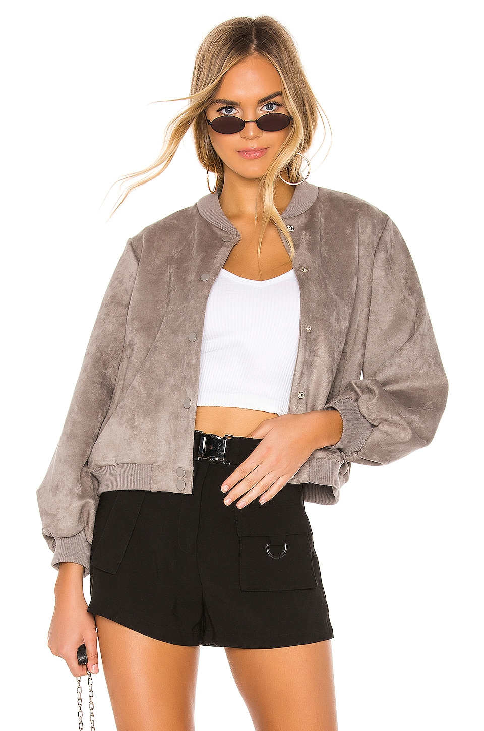 superdown Emily Button Up Jacket in Grey