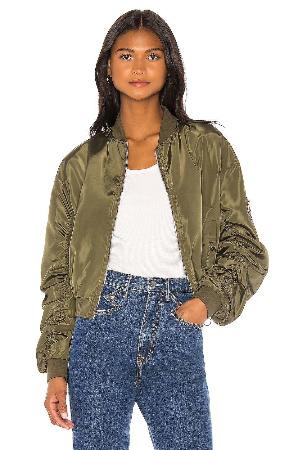 superdown Chicago Oversized Jacket in Army Green