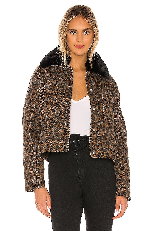 superdown Cici Snap Front Jacket in Leopard