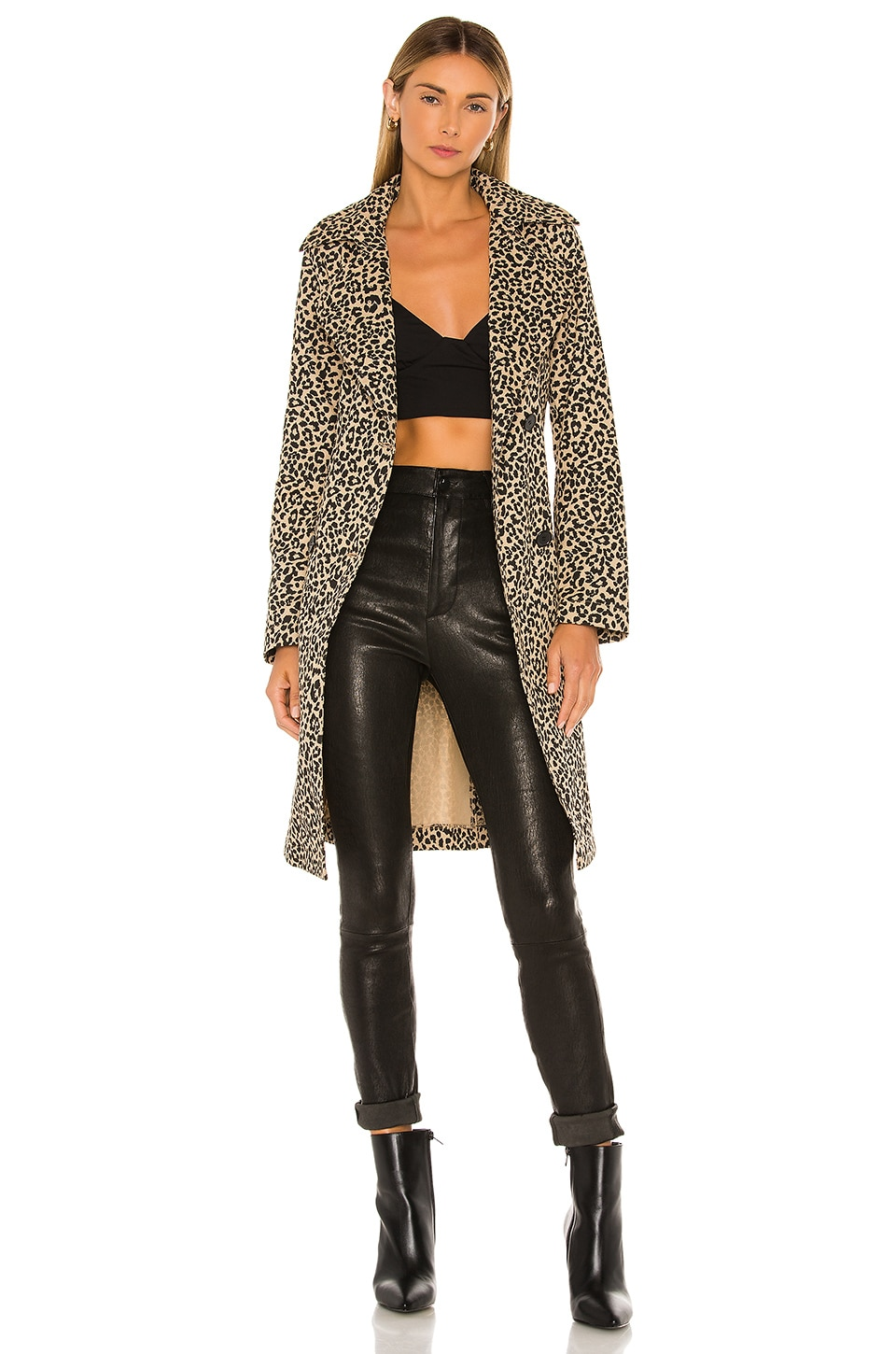 superdown Tala Wrap Coat in Leopard