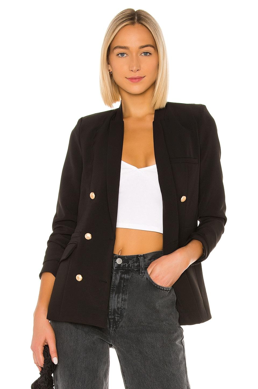 superdown Charli Double Breasted Blazer in Black