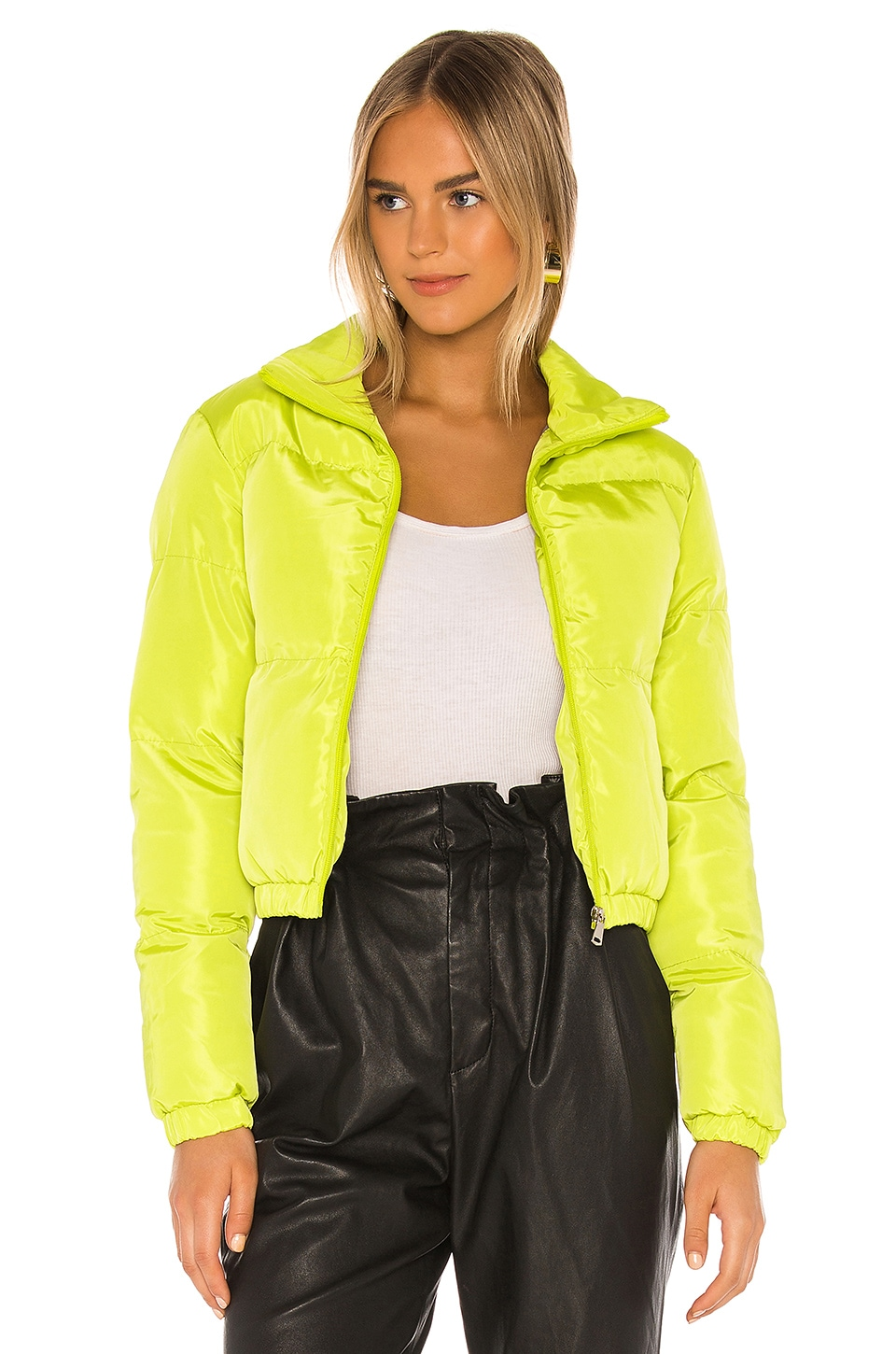 superdown Tasha Puffer Jacket in Lime Green