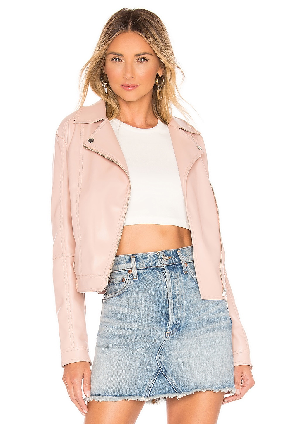 superdown Gia Moto Jacket in Blush