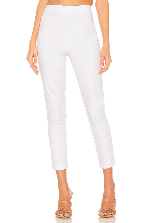 superdown Maisie Zip Back Skinny Pants in White