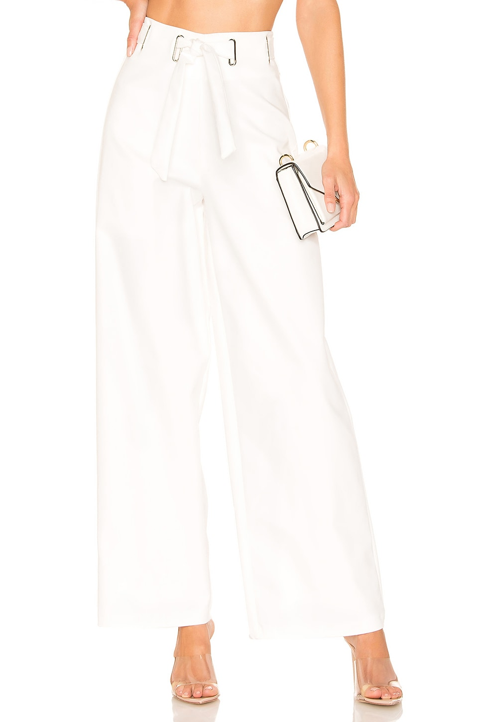 superdown Ali Belted Pants in Ivory