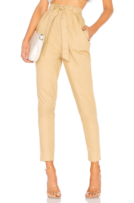 superdown Marla Tie Front Pants in Khaki