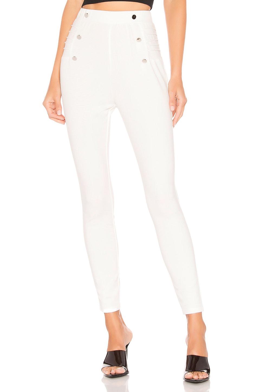 superdown Sadie Side Button Pant in White