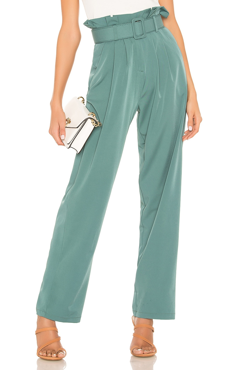 superdown Becca Wide Leg Pant in Green