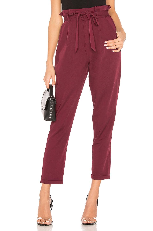 superdown Lisa Belted Trouser Pants in Plum