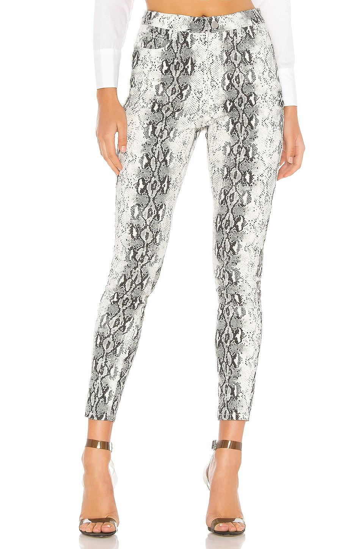superdown Robyn Snake Print Pant in Black & White