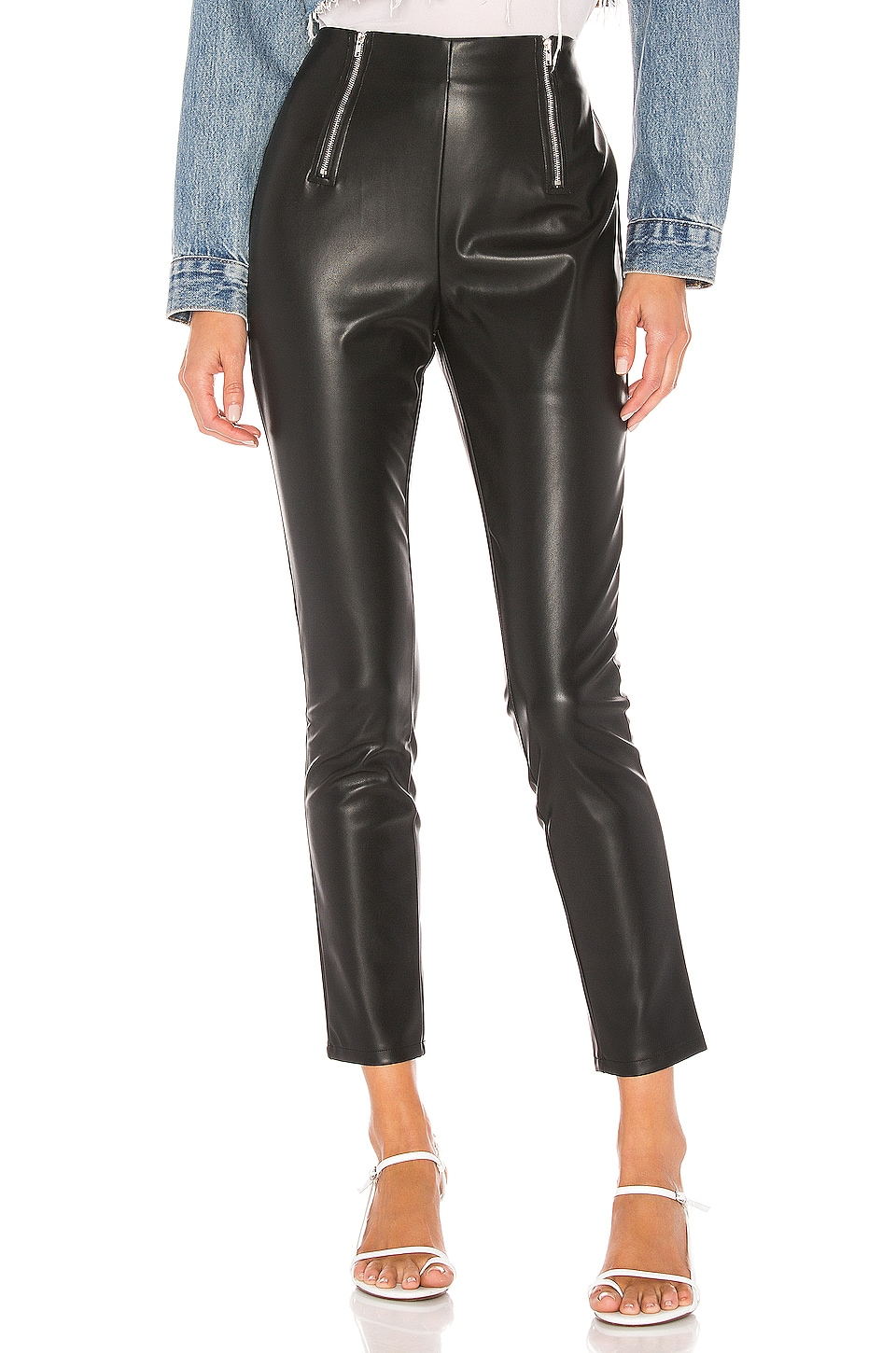 superdown Kris Double Zip Pants in Black