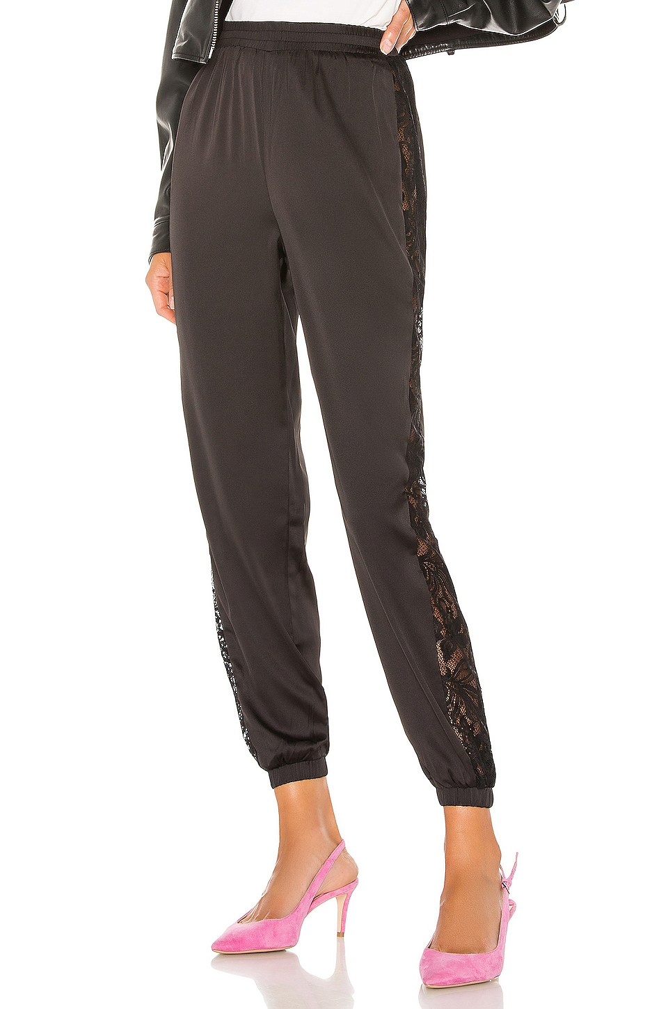 superdown Tiana Lace Jogger in Black