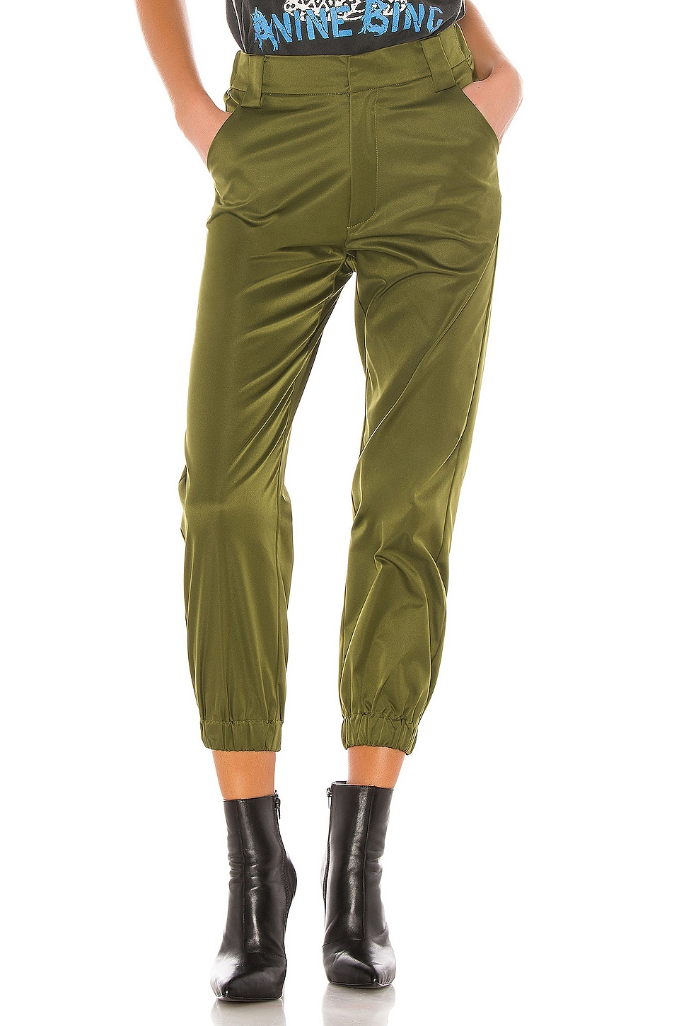 superdown Feona High Waisted Cargo Pant in Green