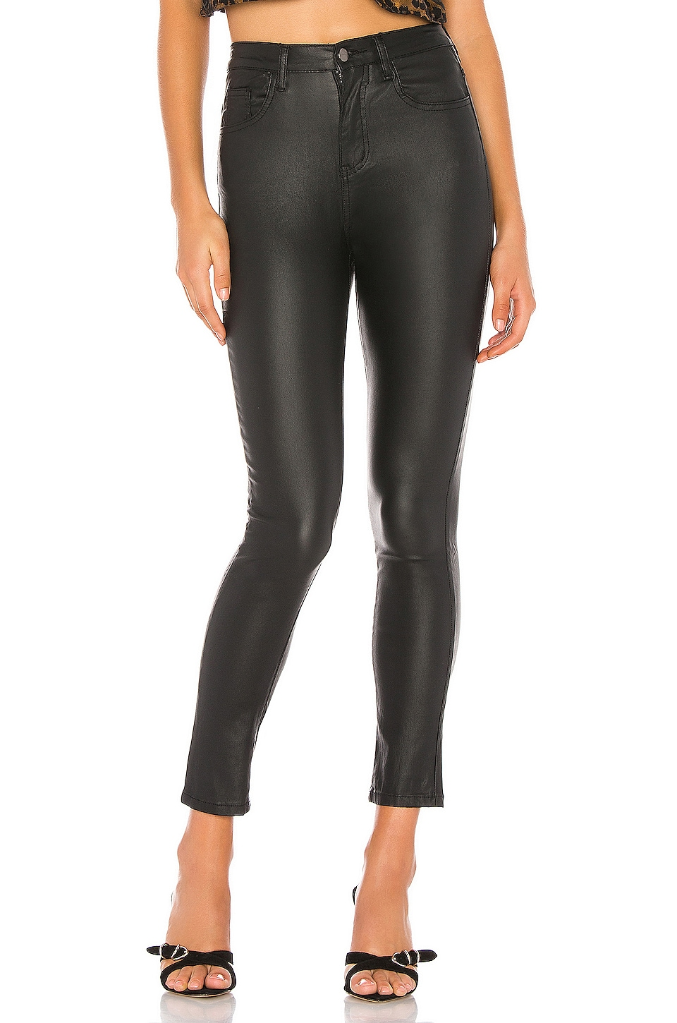 superdown Deandra Coated Faux Leather Pant in Black
