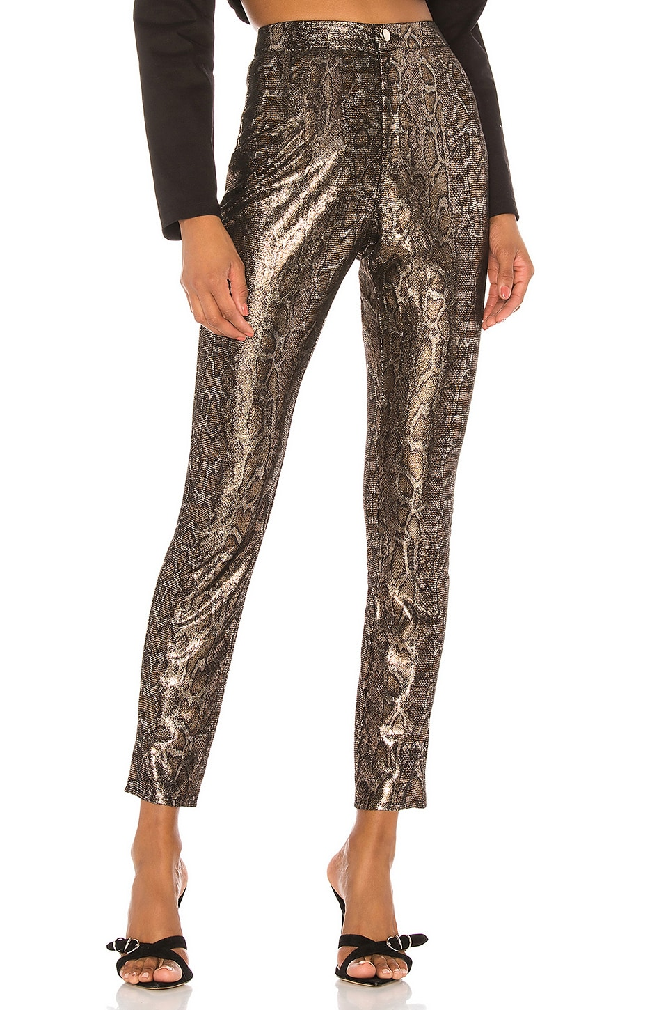 superdown Darla High Waisted Pants in Snake