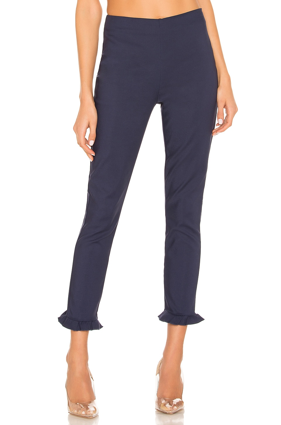 superdown Josephine Ruffle Pants in Navy