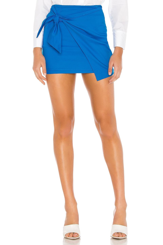 superdown Tilda Tie Wrap Skirt en Aqua