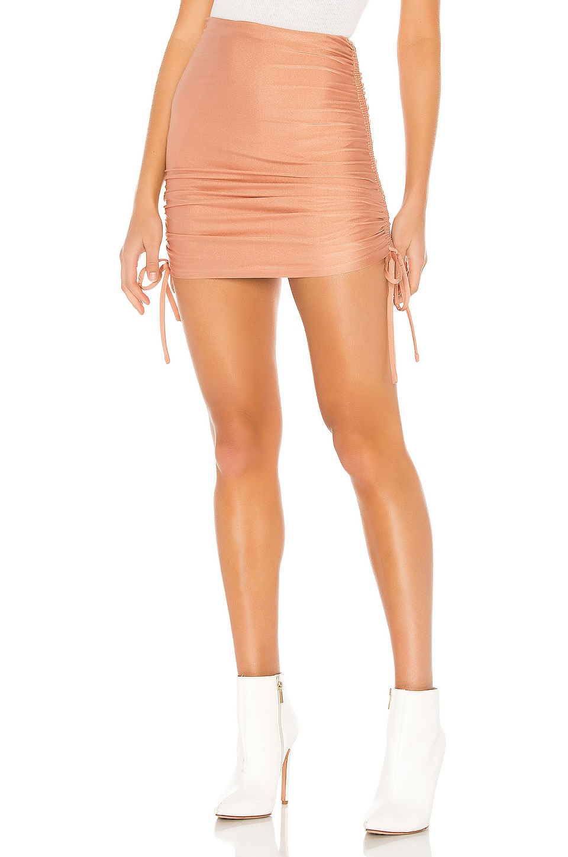 superdown Missie Ruched Mini Skirt in Blush