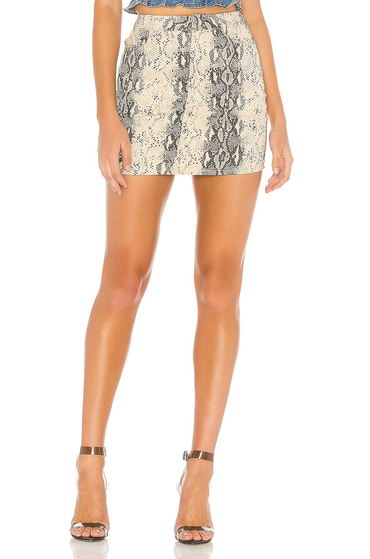 superdown Isabela Mini Skirt in Snake Print