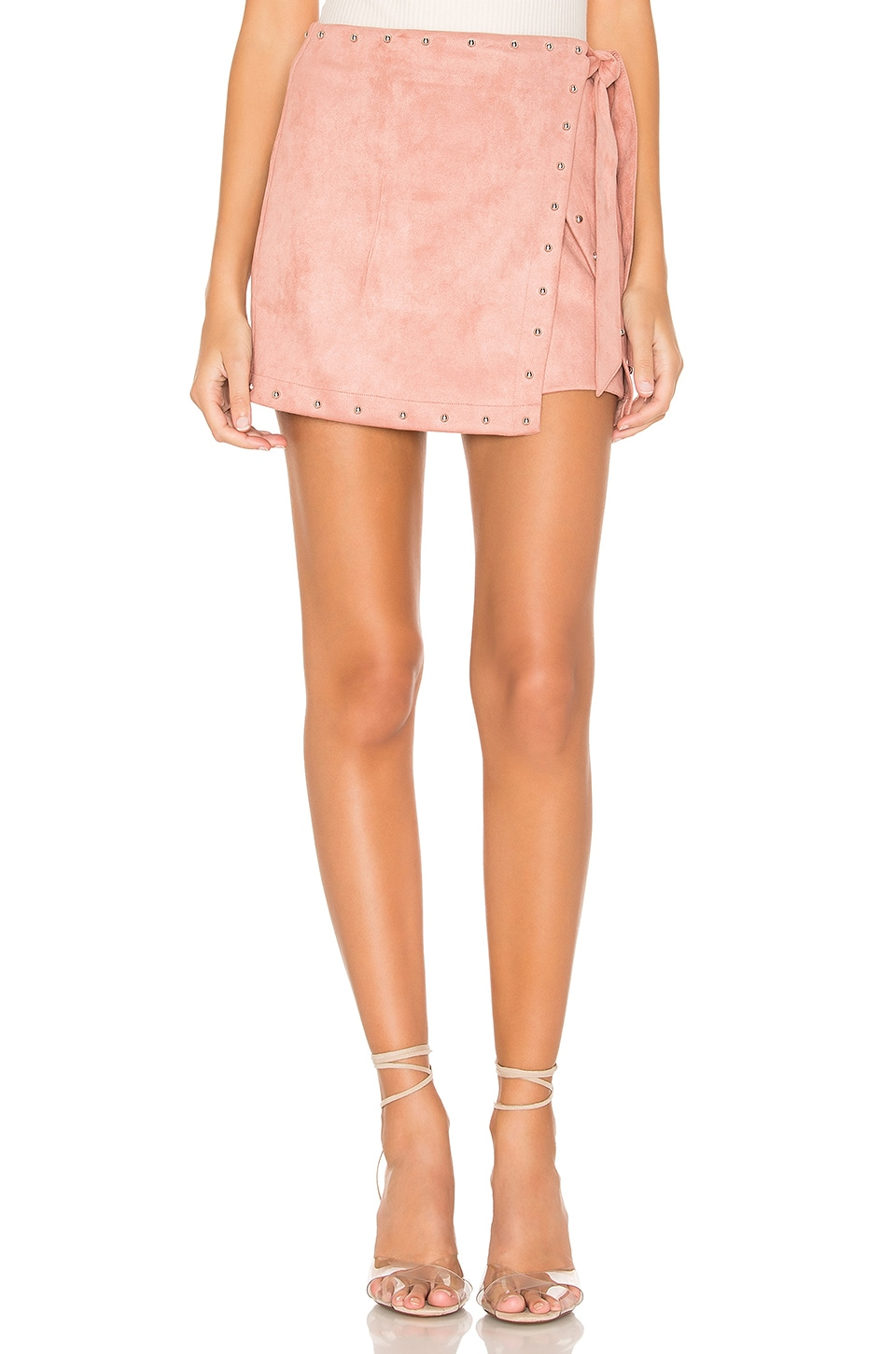 superdown x REVOLVE Coryna Wrap Skirt in Mauve