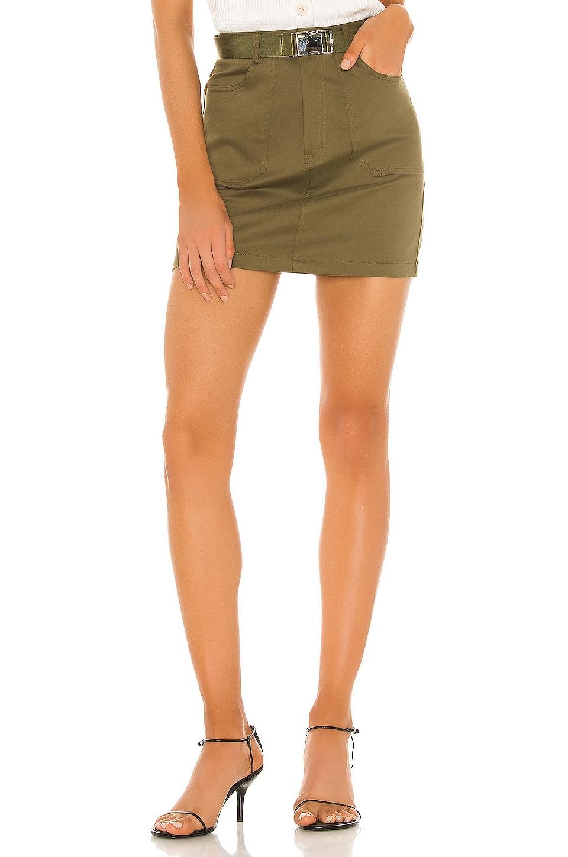 superdown Sandra Cargo Skirt in Olive