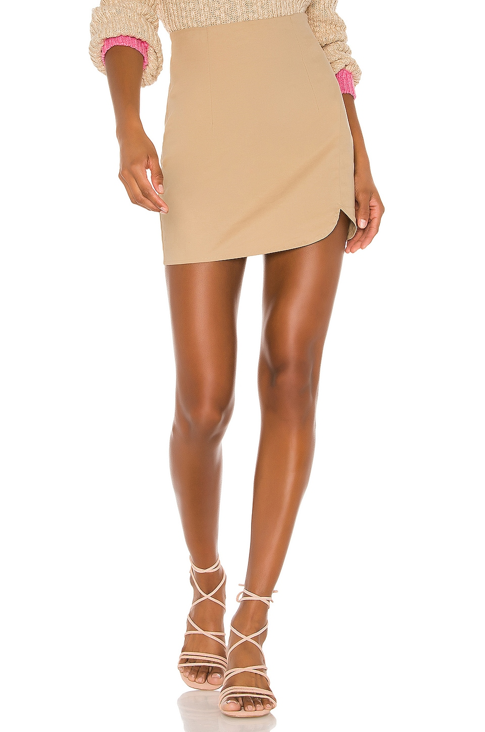 superdown Ariane Mini Skirt in Khaki