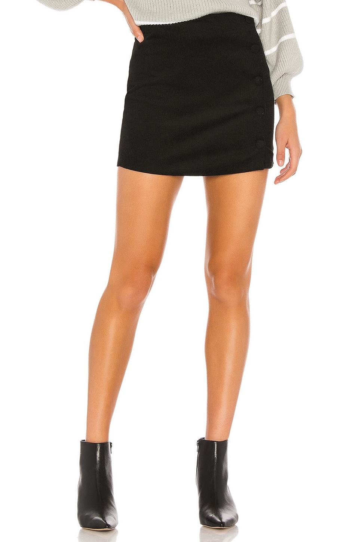 superdown Dylan Corduroy Mini Skirt in Black