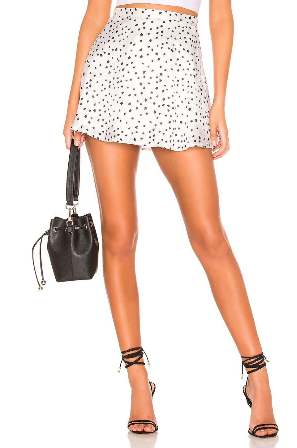 superdown Jaime Skater Skirt in White Star