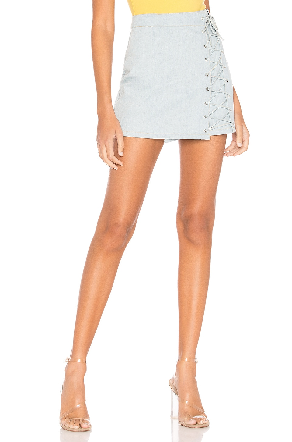 superdown Pamela Denim Skirt in Denim