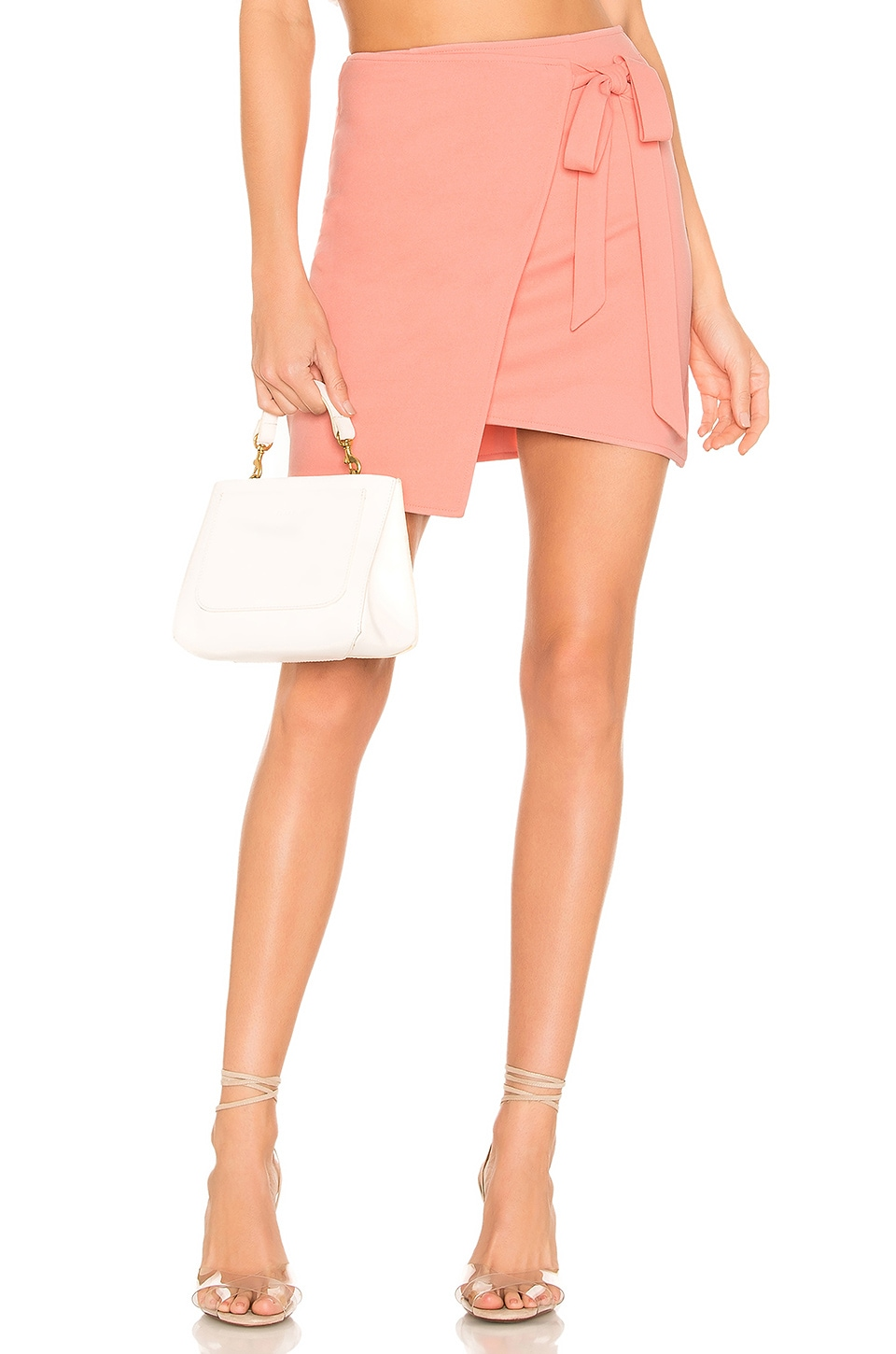 superdown Monica Wrap Tie Skirt in Pink