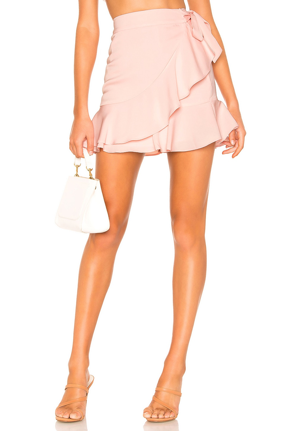 superdown Patricia Ruffle Wrap Skirt in Pink