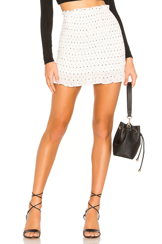 superdown Amanda Smocked Skirt in White
