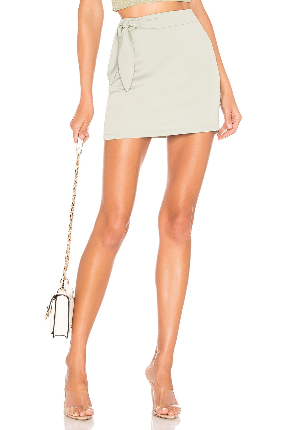 superdown Laina Mini Skirt in Mint