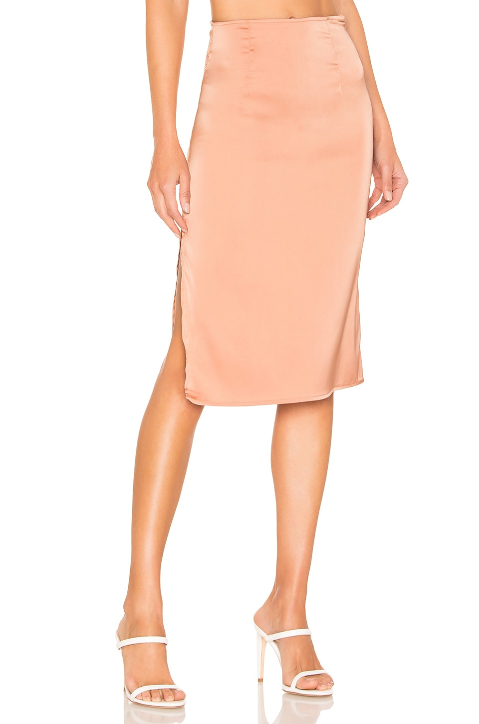 superdown Elise Midi Skirt in Peach
