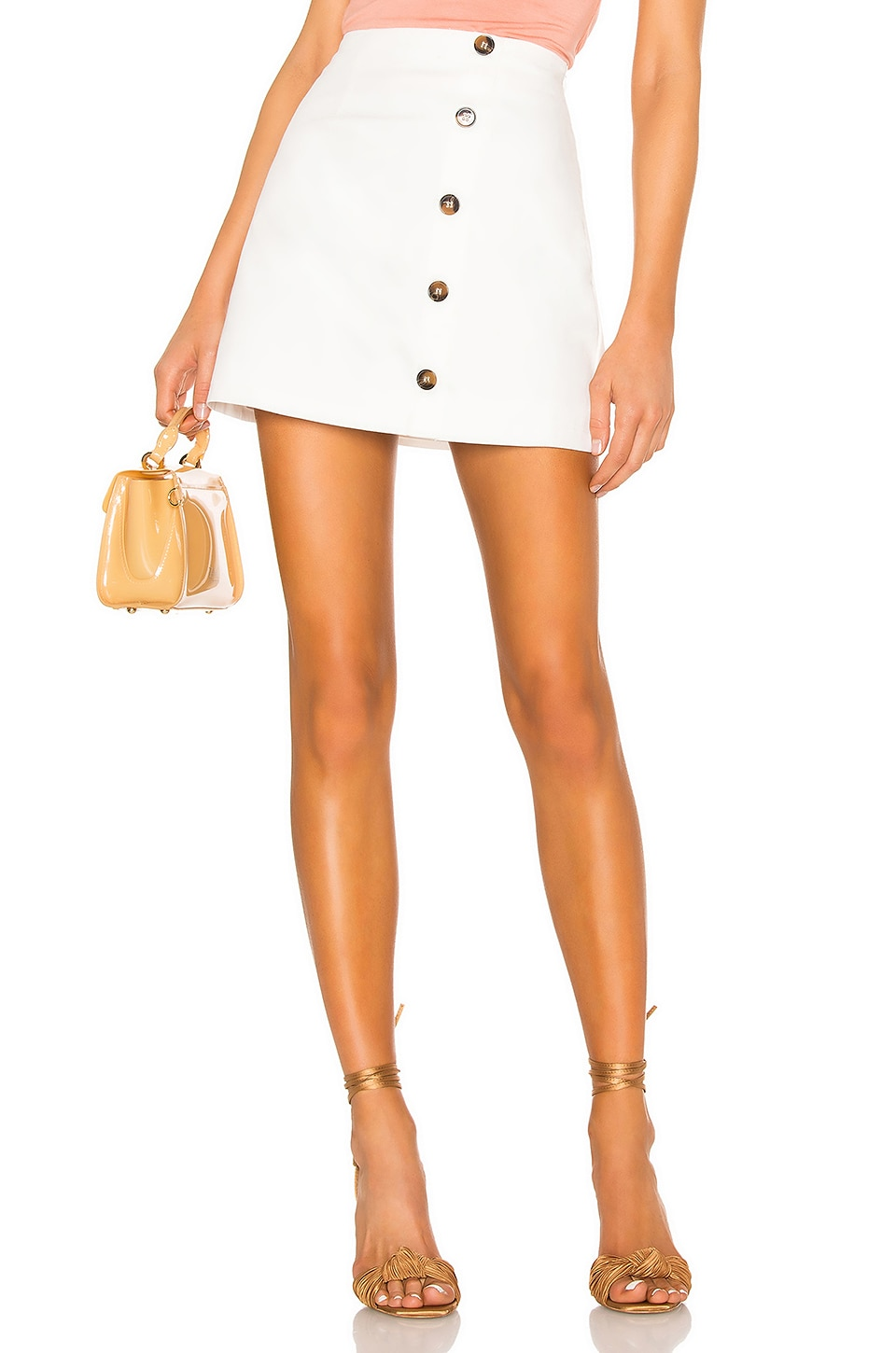 superdown Mila A Line Skirt in White