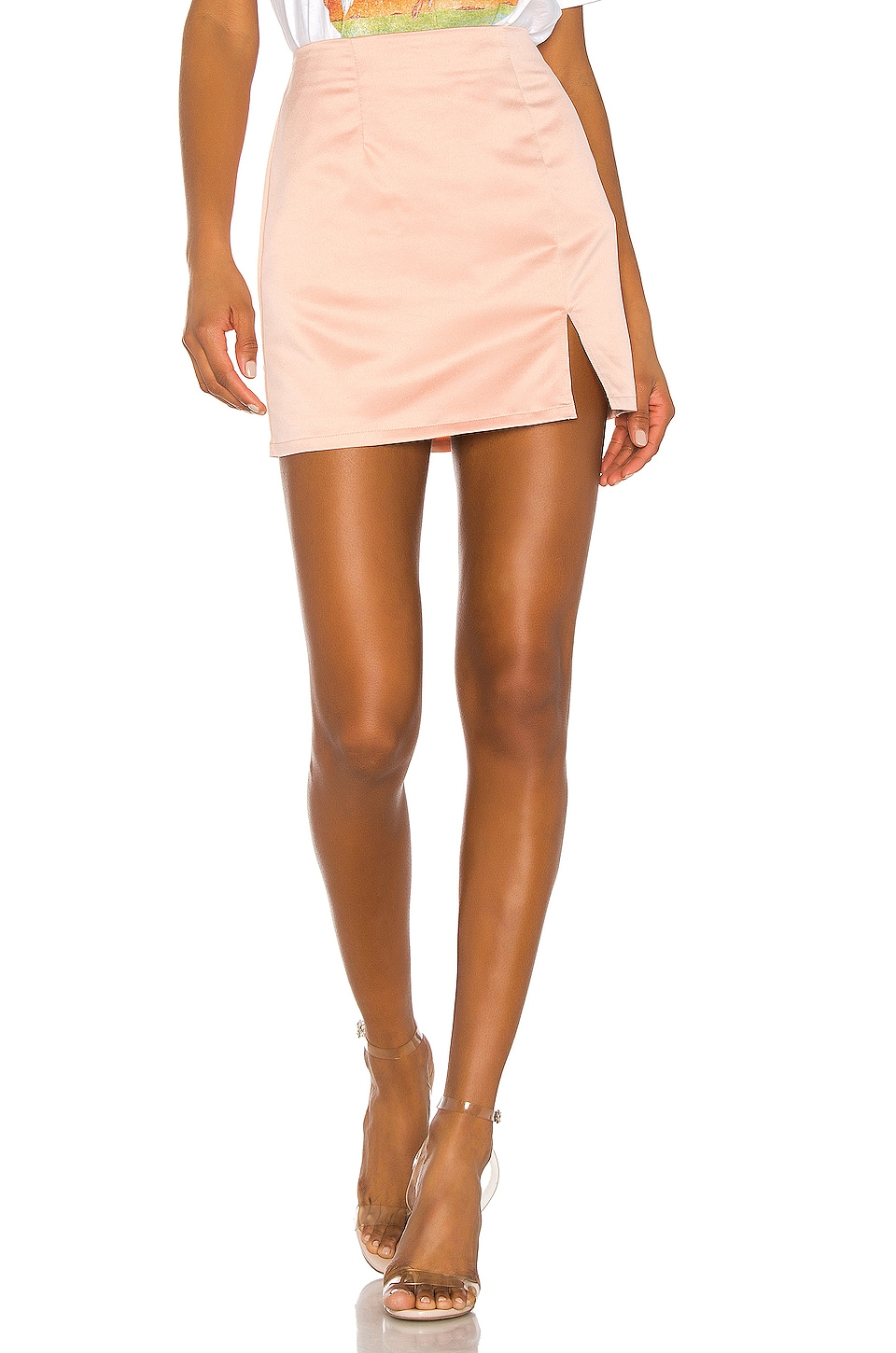 superdown Dillon Mini Skirt in Blush