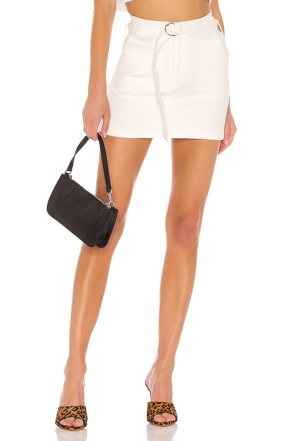 superdown Laney Belted Mini Skirt in Ivory