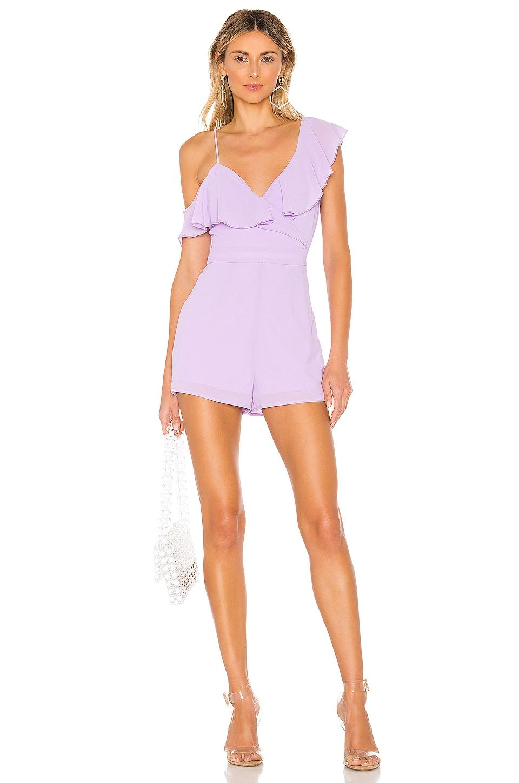 superdown Emilia Wrap Romper in Lavender