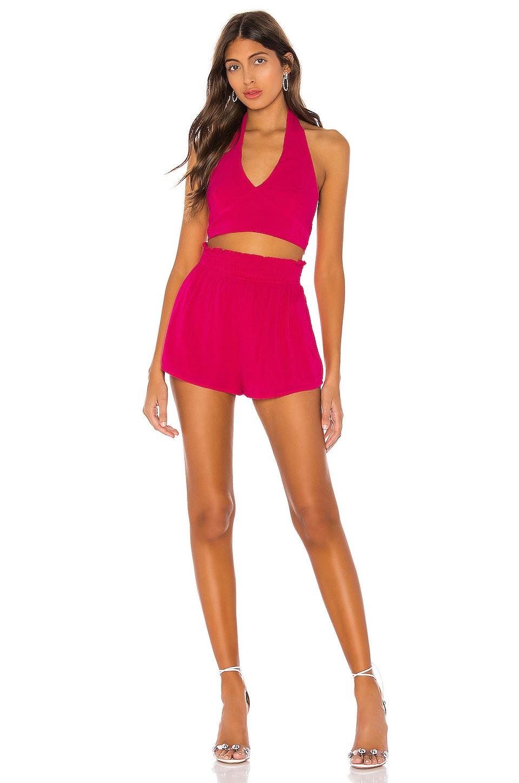 superdown Alexis Short Set in Hot Pink
