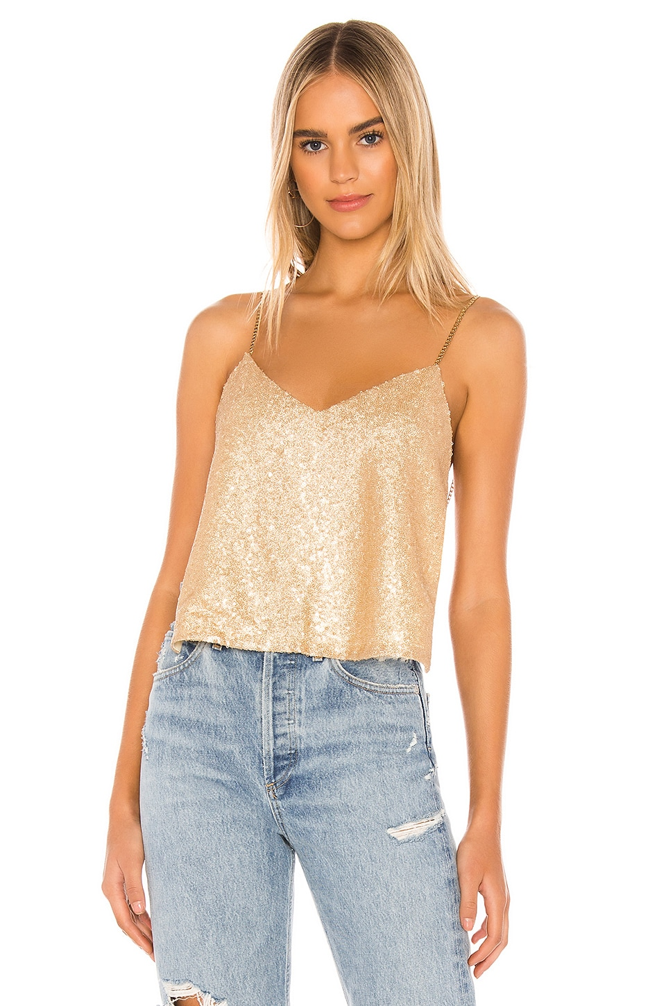 superdown Caitlyn Backless Top in Gold