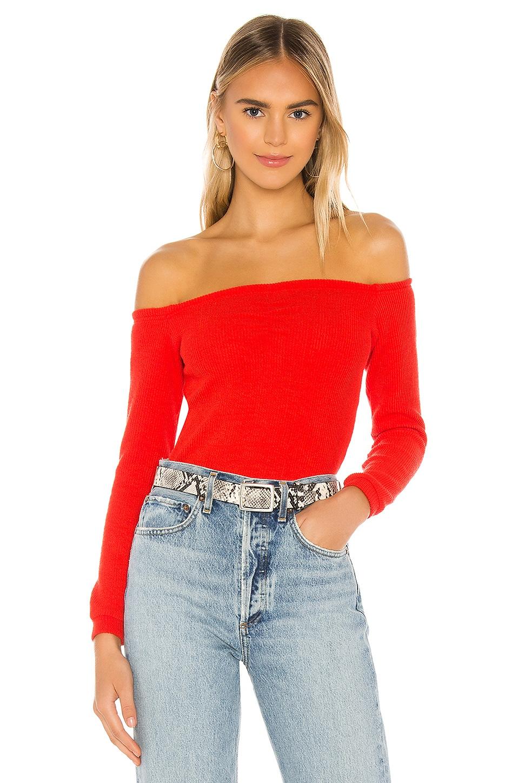 superdown Evie Ruched Crop Top in Red