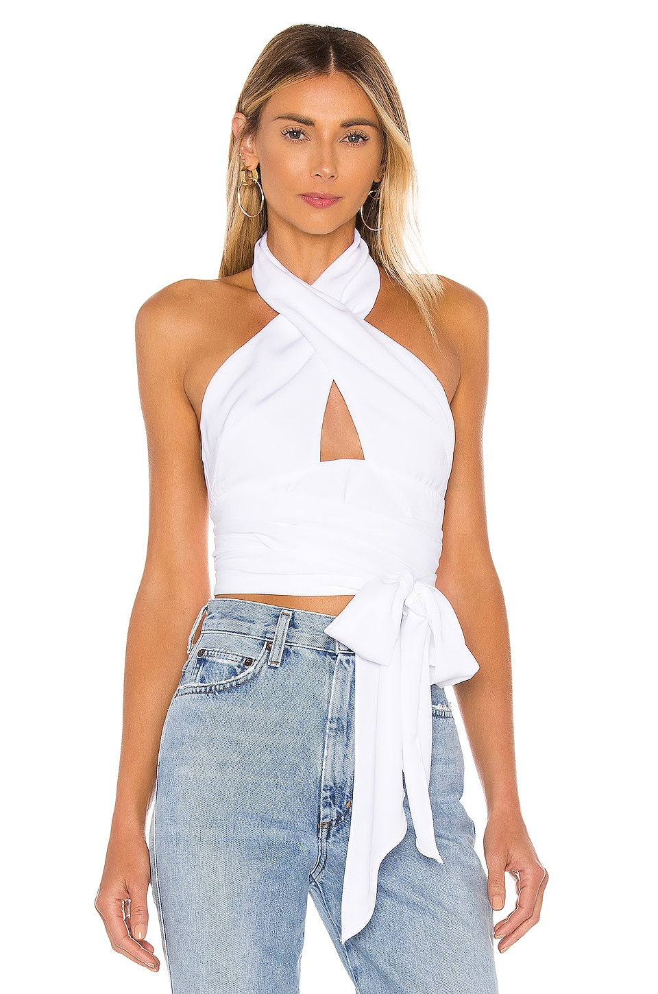 superdown Jennifer Wrap Top in White