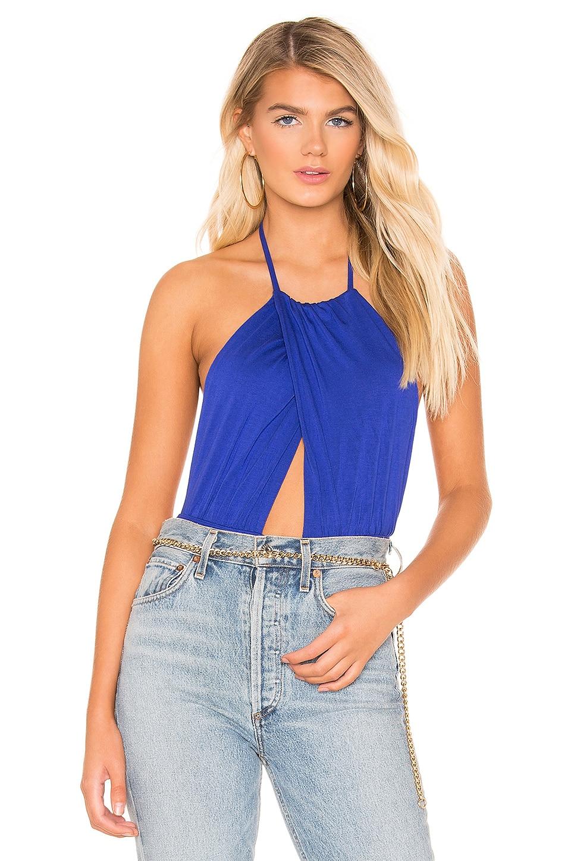 superdown Rosie Halter Bodysuit in Cobalt Blue
