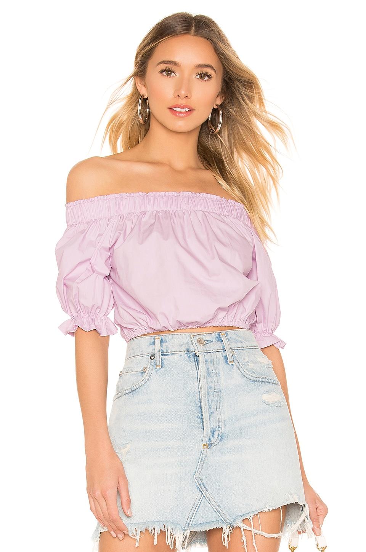 superdown Candice Off Shoulder Top in Lavender