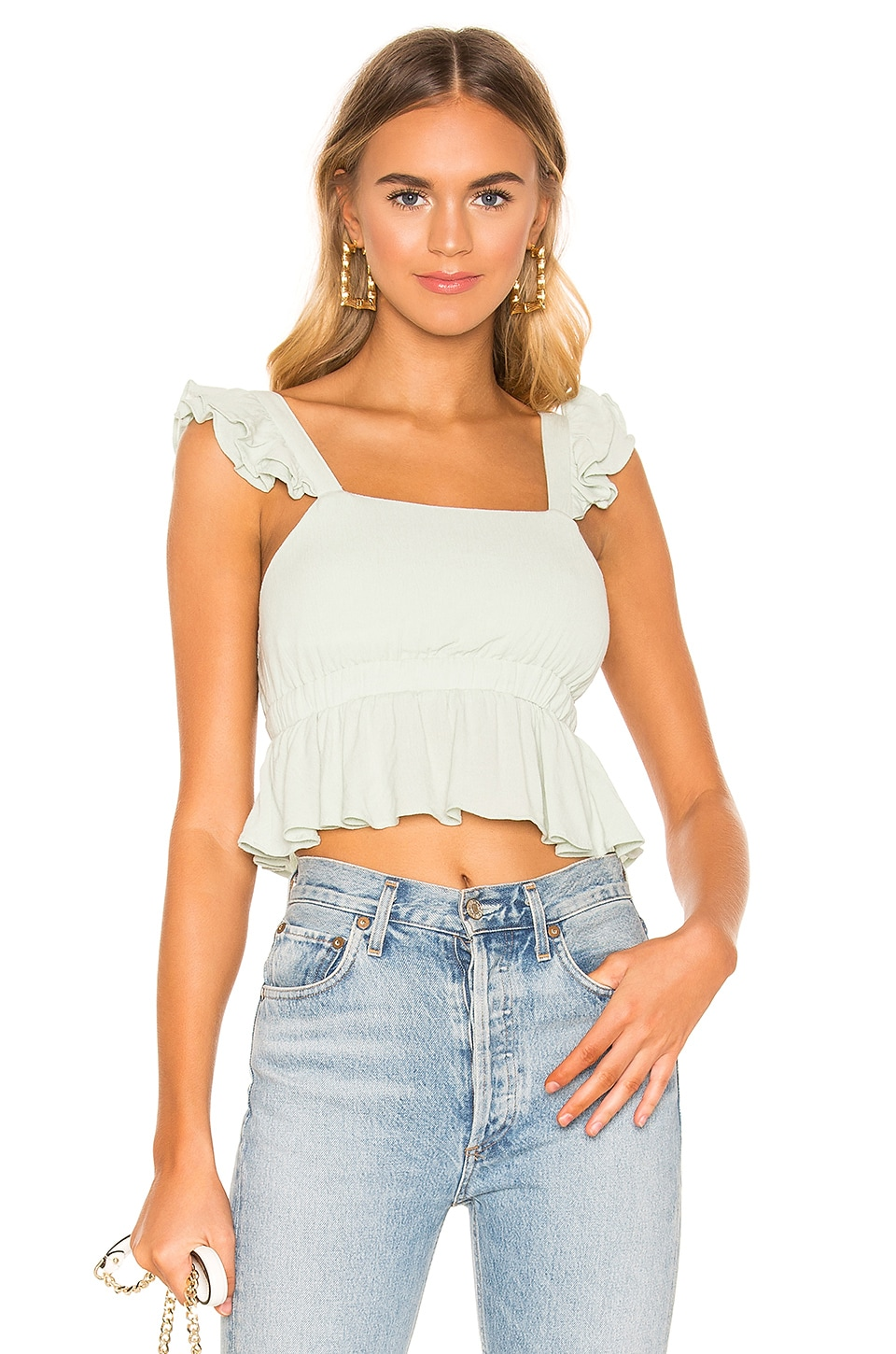 superdown Lyla Cami Top in Mint