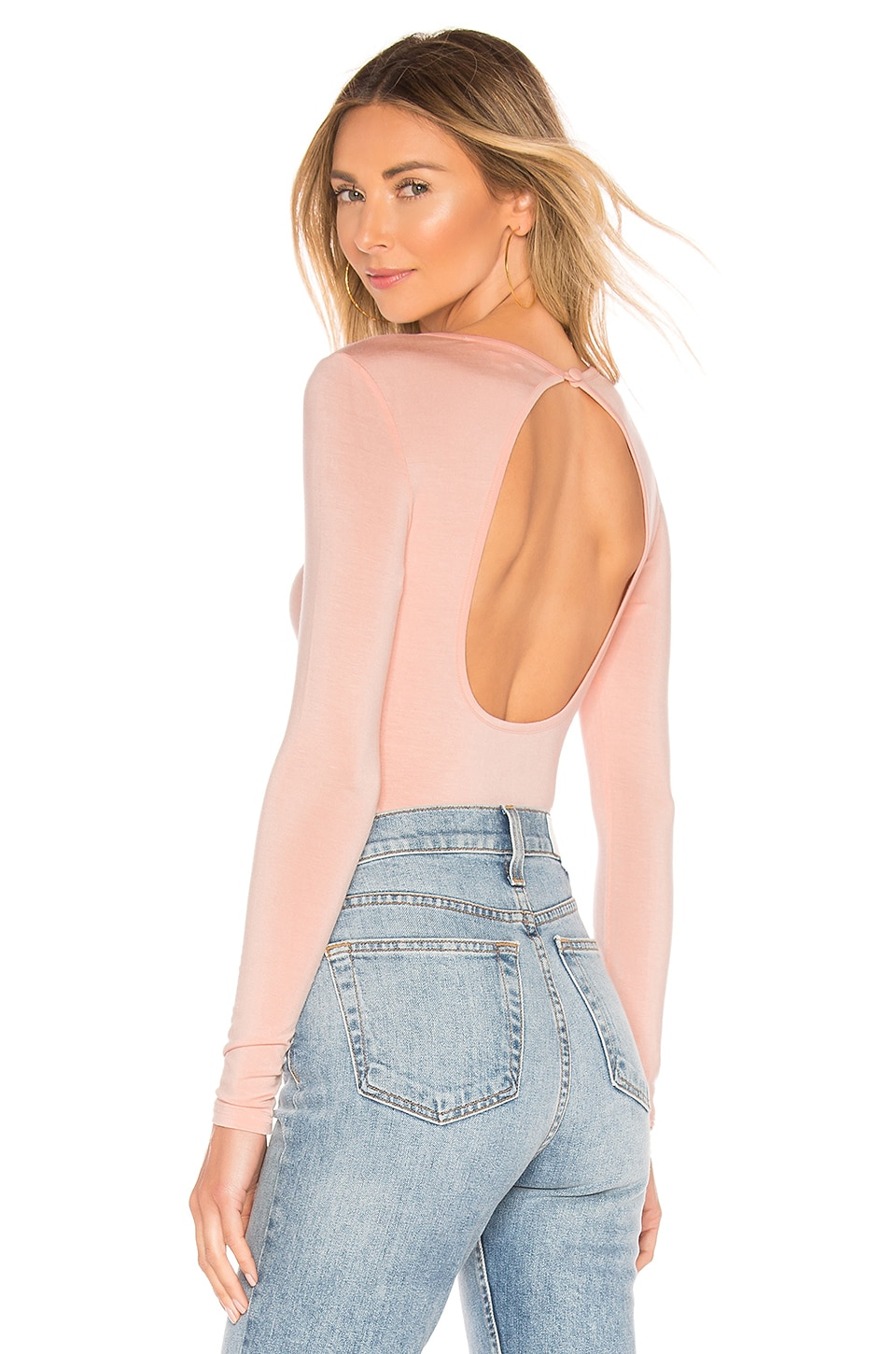 superdown Christy Open Back Top in Blush