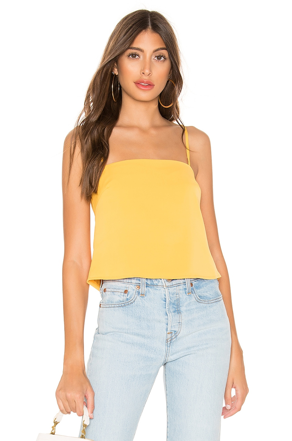 superdown Kit Tie Back Top in Canary Yellow