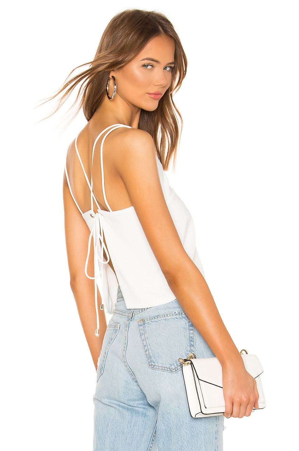 superdown Sandy Backless Top in Ivory