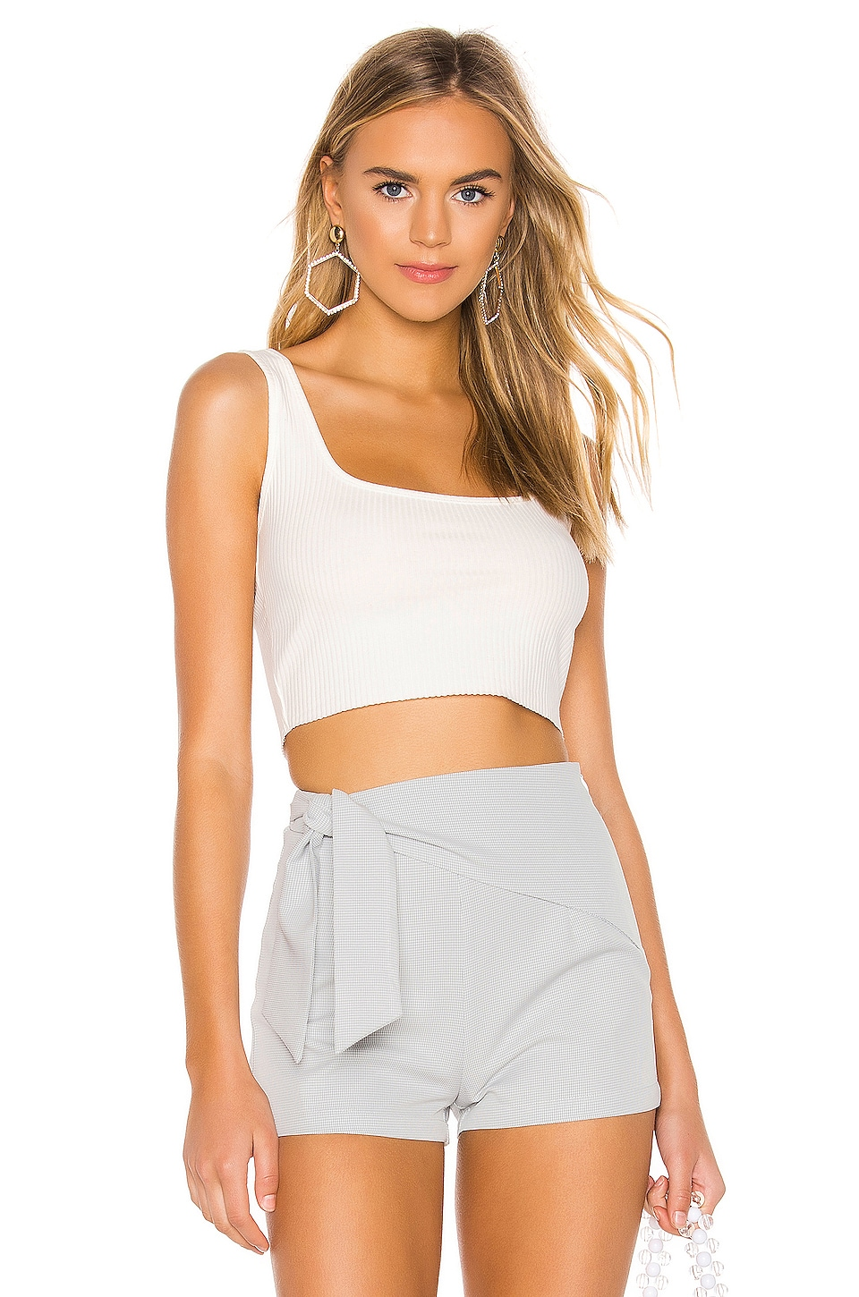 superdown Gwyneth Scoop Neck Top in White